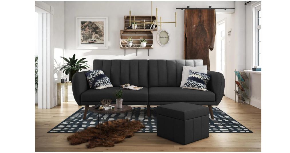 Mid-century inspired futon