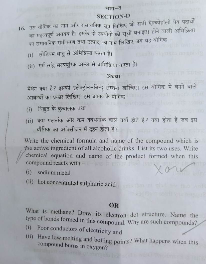 CBSE Board class 10th Science Question Paper 2019 - Times of