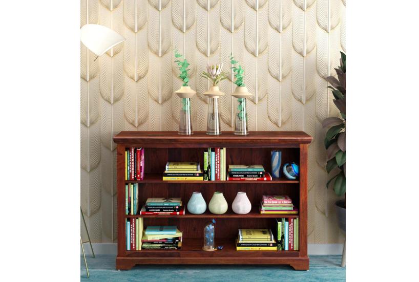 Wooden Book Shelf in Honey Oak Finish
