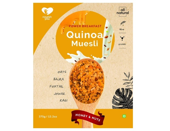 Nourish You Quinoa Muesli- Honey and Nuts