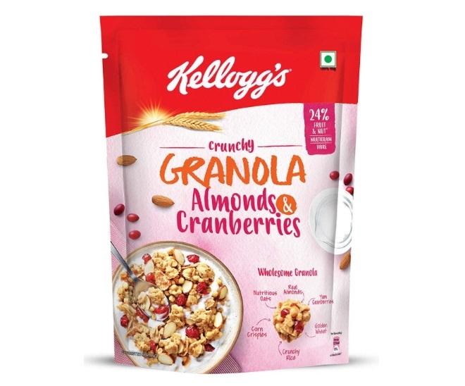 Kellogg's Crunchy Granola- Almonds and Cranberries