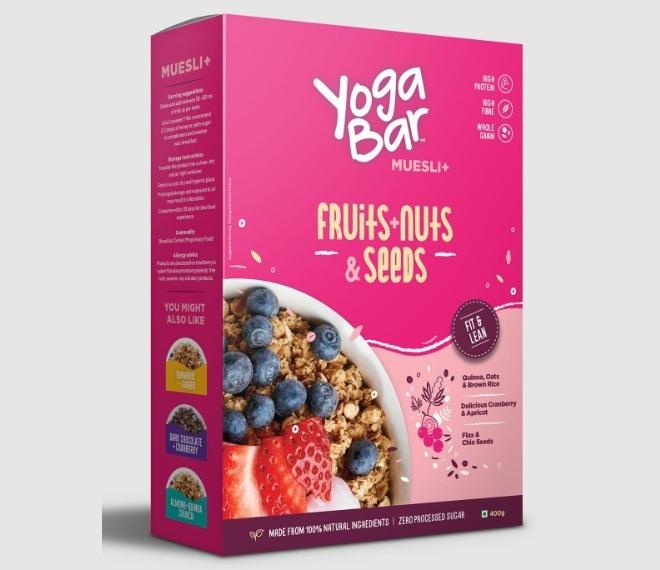Yogabar Wholegrain Breakfast Muesli - Fruits, Nuts + Seeds