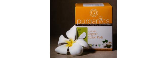 Purganics organic cotton sanitary pads