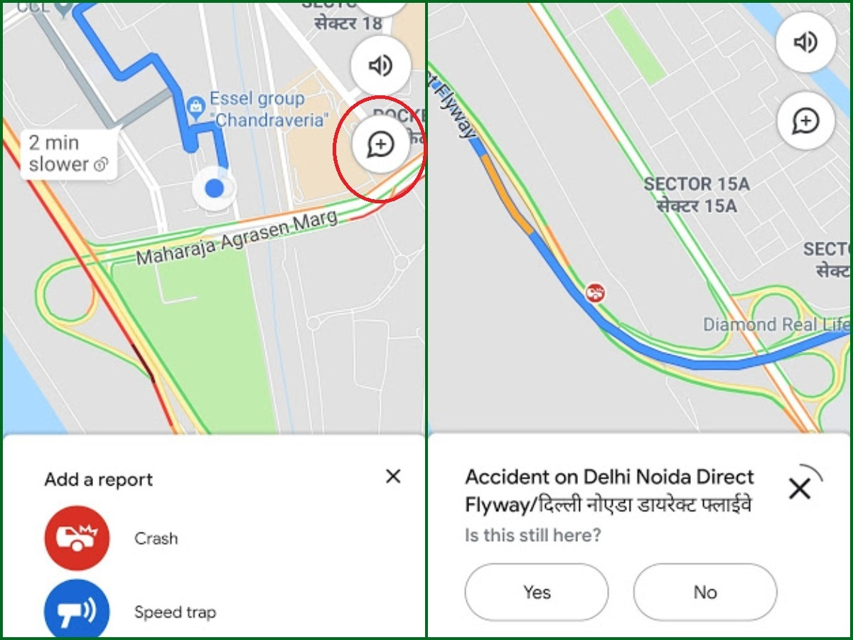 Google Maps India: Users can now report accidents, sd traps on ... on