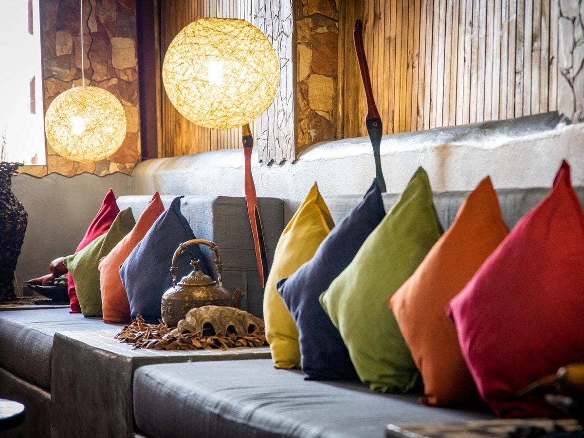 Colourful furnishing