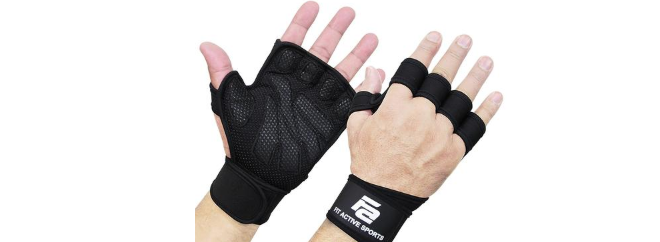 Fit Active Sports ventilated weight lifting gloves