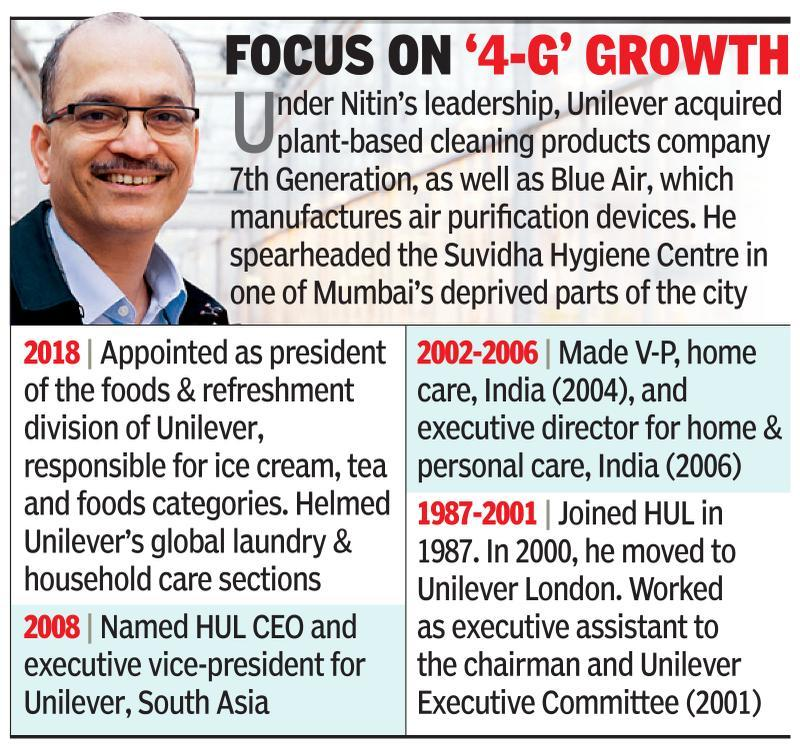 Paranjpe is named COO of Unilever