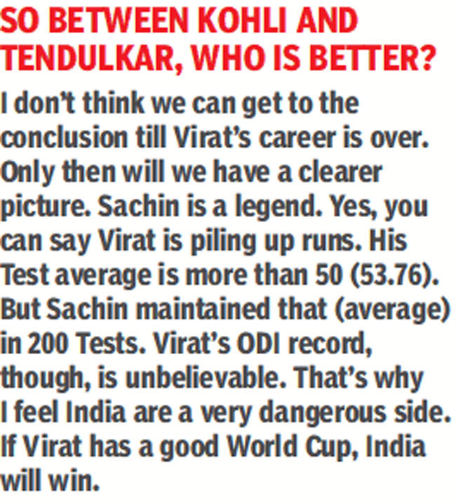 If Virat Kohli has a great World Cup, then India will win: Ricky Ponting - Instances of India - world, virat, ricky, ponting, kohli, india, great