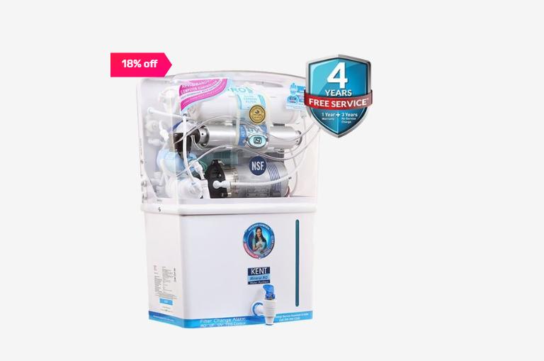 Kent Grand Plus 8L RO + UV + UF Water Purifier (White)