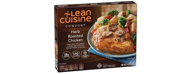 Lean Cuisine Comfort herb roasted chicken.