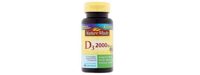Nature Made Vitamin D3 Soft Gels.