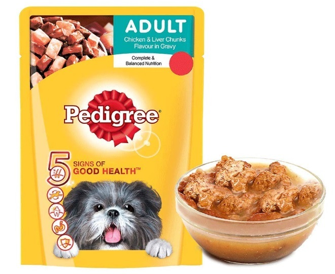 Pedigree Adult Wet Dog Food, Chicken and Liver Chunks in Gravy
