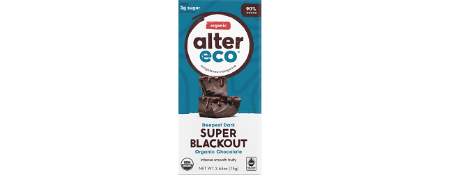 Alter Eco Deepest Dark Super Blackout organic chocolate