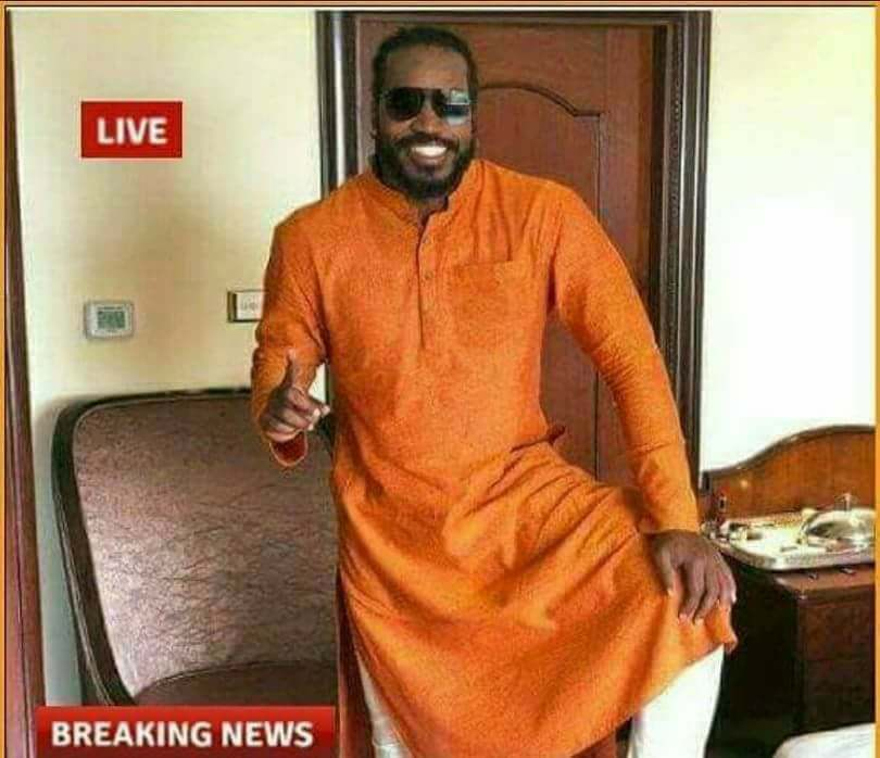 Chris Gayle In Kurta Two
