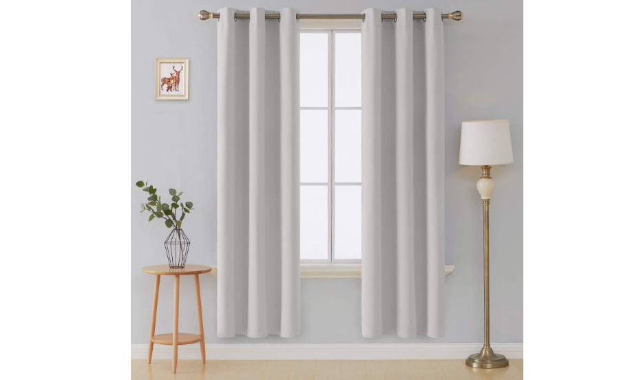 Thermal Insulated Blackout Grommet Window Curtains for Bedroom