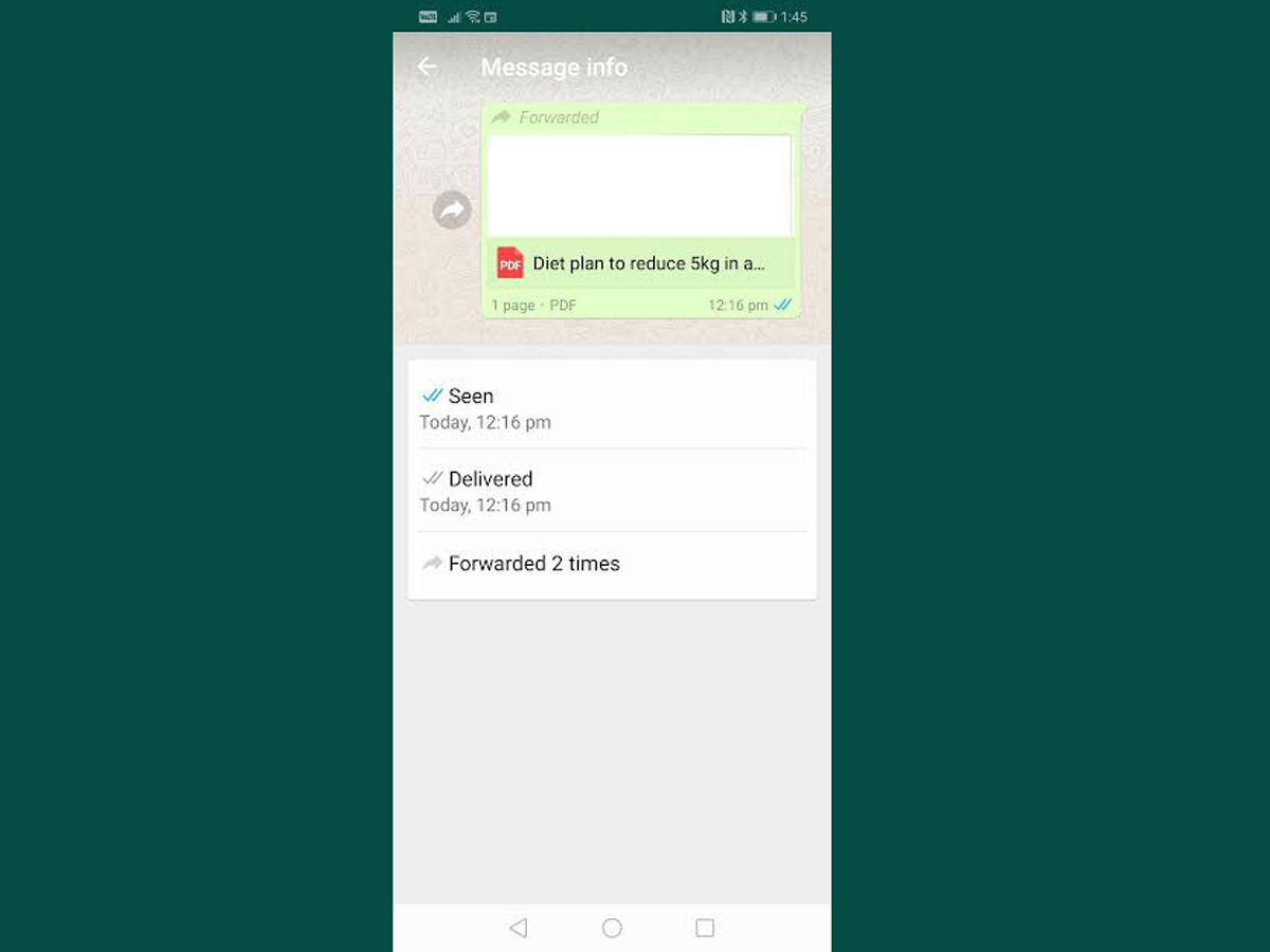 WhatsApp forward: Android users, WhatsApp's forwarding feature is