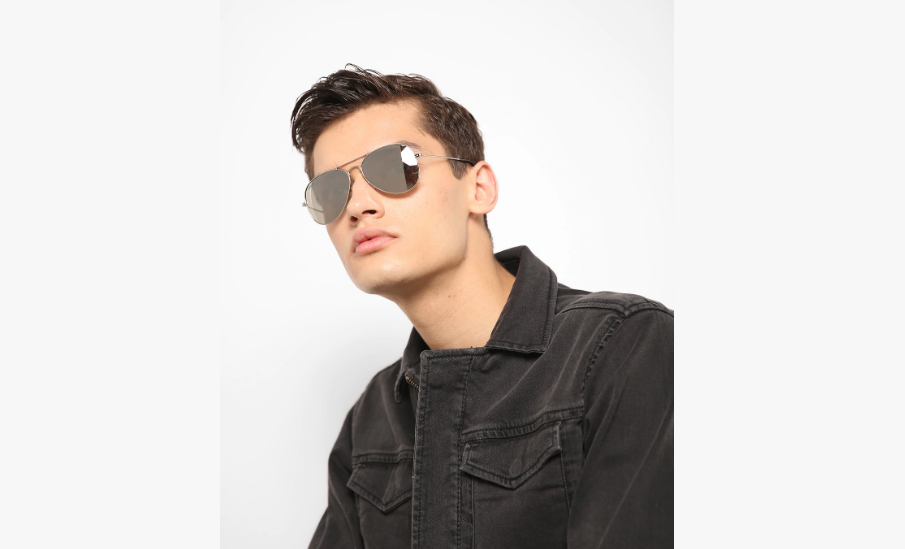 Mirrored Aviators with Top Bar