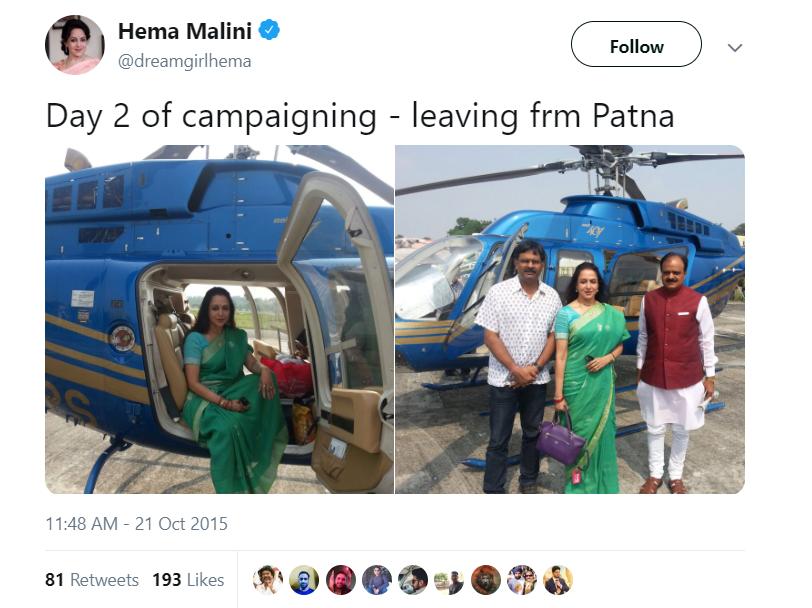 Hema Malini Tweet