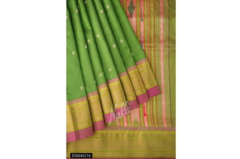 Green pure silk Paithni saree