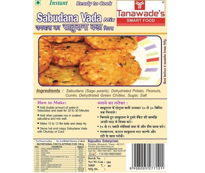 Tanawade's Smart Food Instant Sabudana Vada Mix