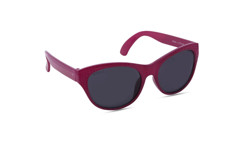 Cat-eye sunglasses with a red rim