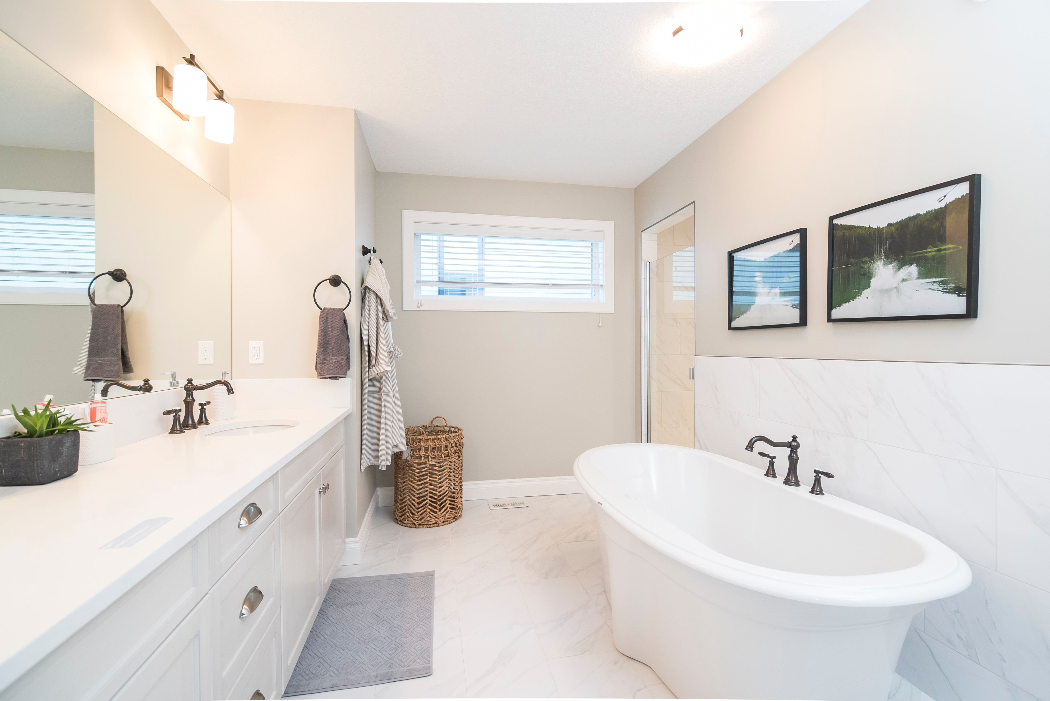 easy to clean bathroom idea