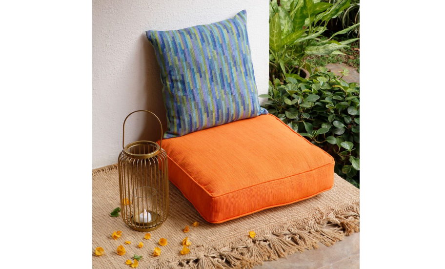 Carrot orange floor cushion
