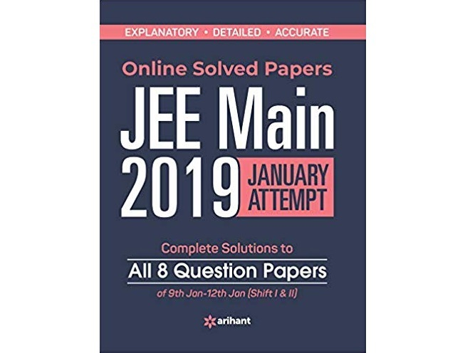 Online JEE Main Solved Paper 2019 by Arihant Experts