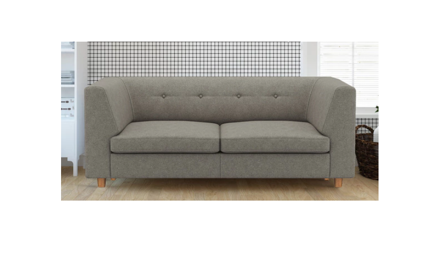 Two seater sofa in grey