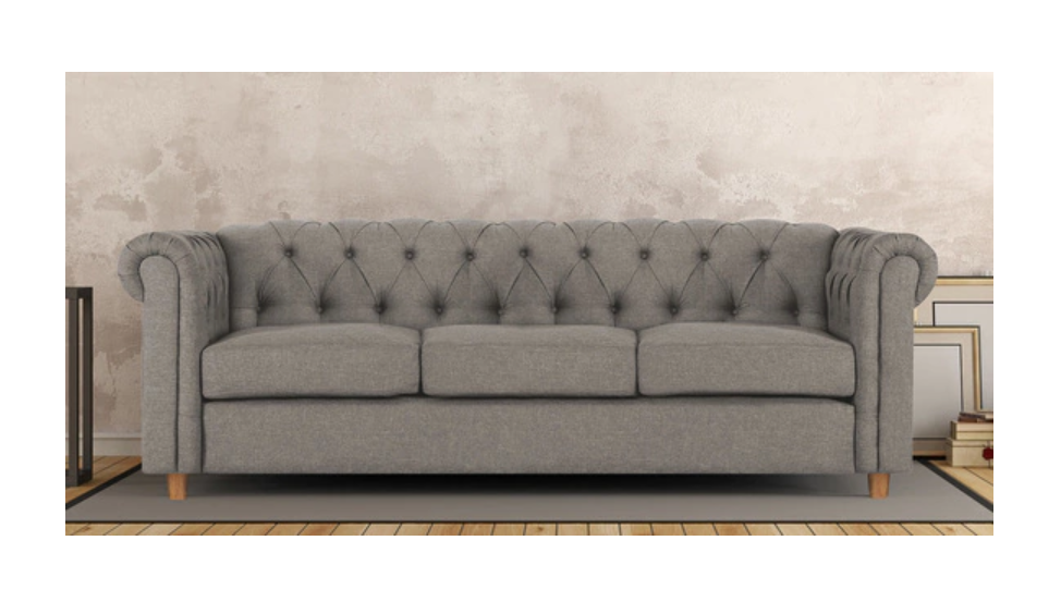 Three Seater Sofa in Grey Colour