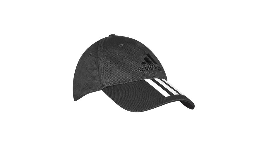 Adidas Black 3 Stripes Cotton Cap