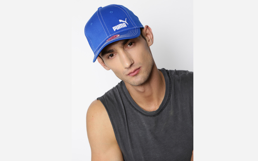 Puma Blue Stretchfit Baseball Cap