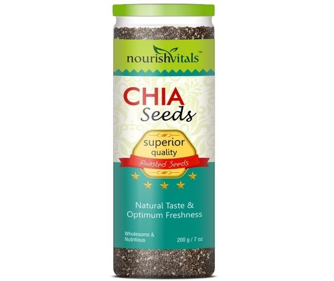 Nourishvitals Superior Quality Roasted Chia Seeds