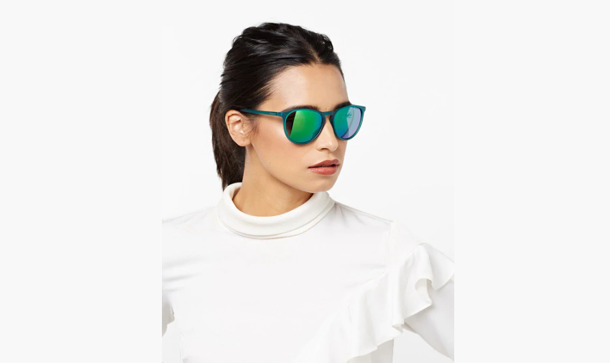 Cat-eye sunglasses with reflective sunglasses