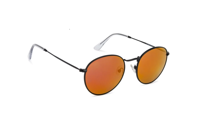 Round sunglasses with mirror frame