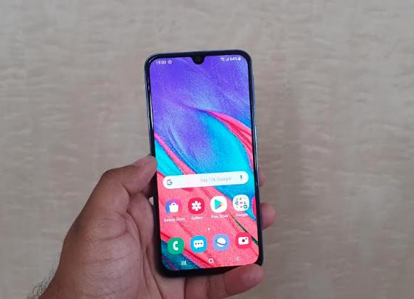 Samsung A40 Screenshot