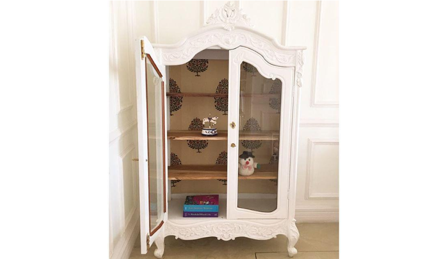 Two-door cupboard inspired by the French Rococo