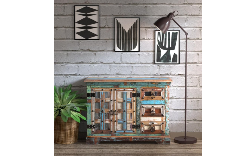 Rugged Cabinet in turquoise