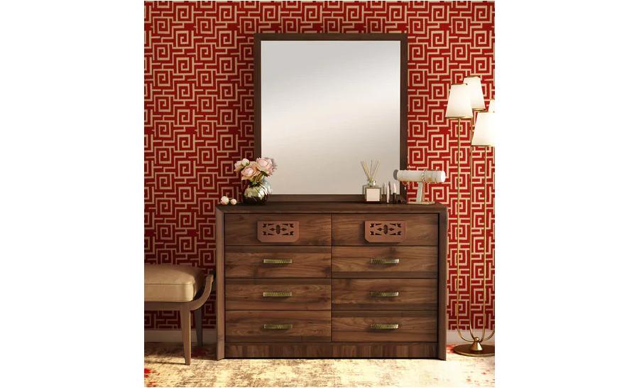 Chest of Drawer cum Dresser with Mirror