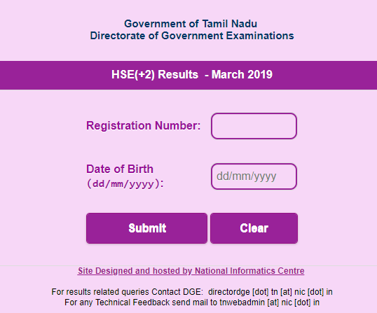 TNDGE Result 2019 dge1 tn nic in: Tamil Nadu Plus Two result