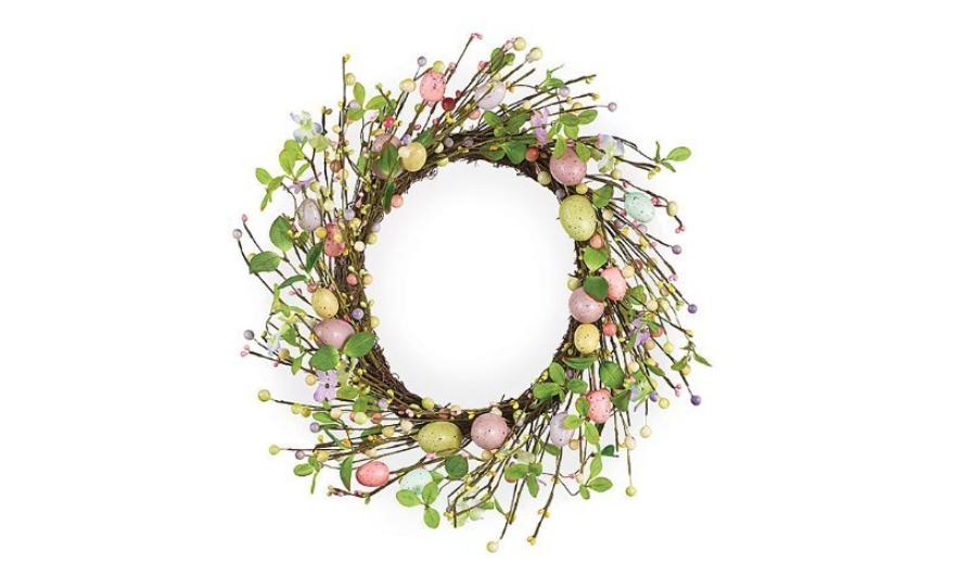 Grapevine Egg Wreath