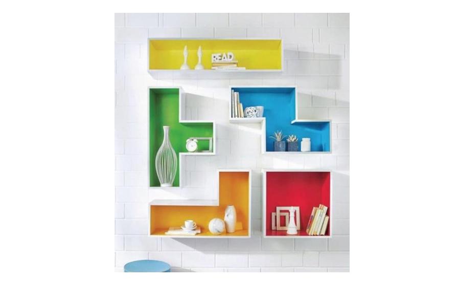 Tetris inspired bookshelf