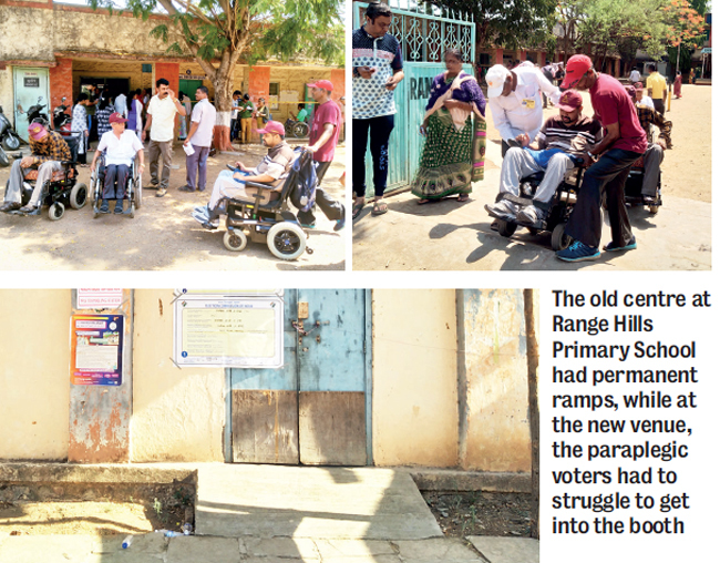 Paraplegic voters: Paraplegic voters suffer at booth without