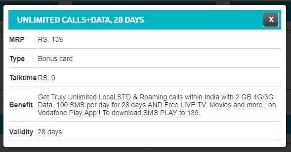 Vodafone Rs 130 Plan: Vodafone launches Rs 139 prepaid plan, here's