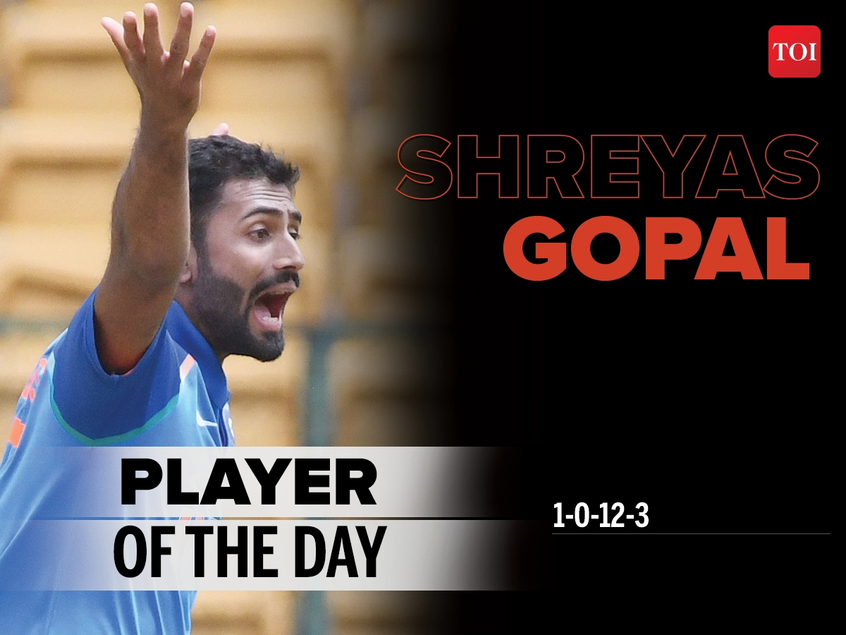 48fa27bd6b1 Player of the Day  Shreyas Gopal takes hat-trick in rain-hit game ...