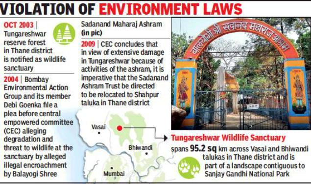 Raze Illegal Ashram In Tungareshwar Sanctuary Sc Mumbai News Times Of India