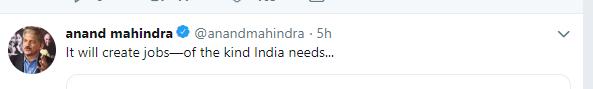 Mahindra tweet 2