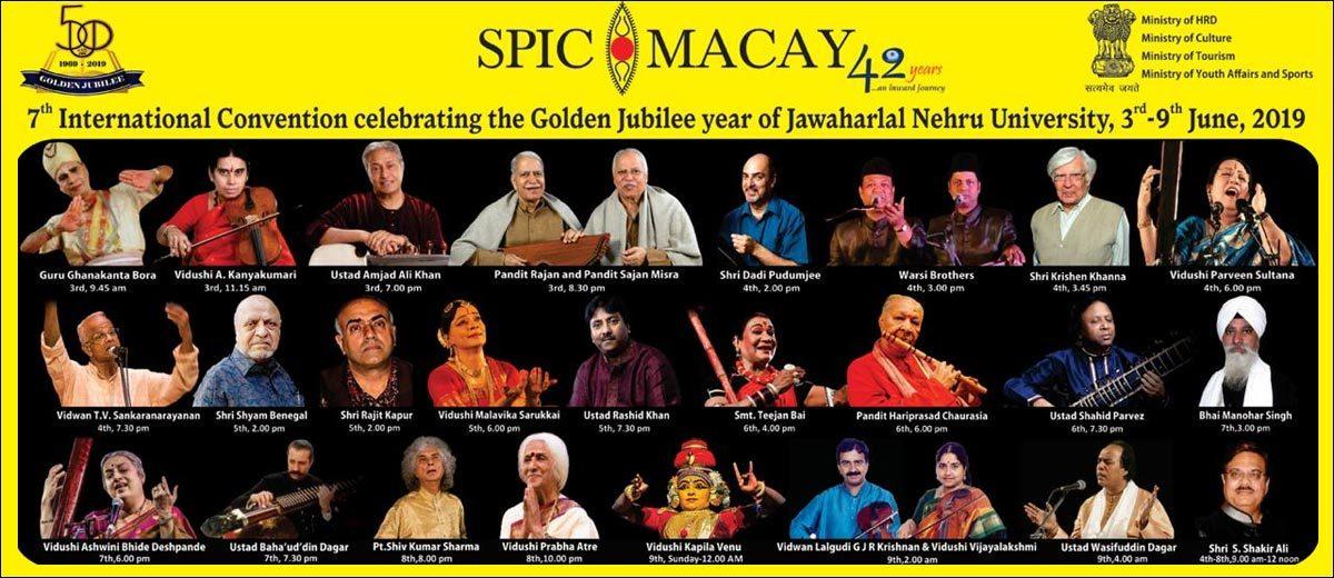 SPIC MACAY's 7th international Convention at Jawaharlal Nehru University.