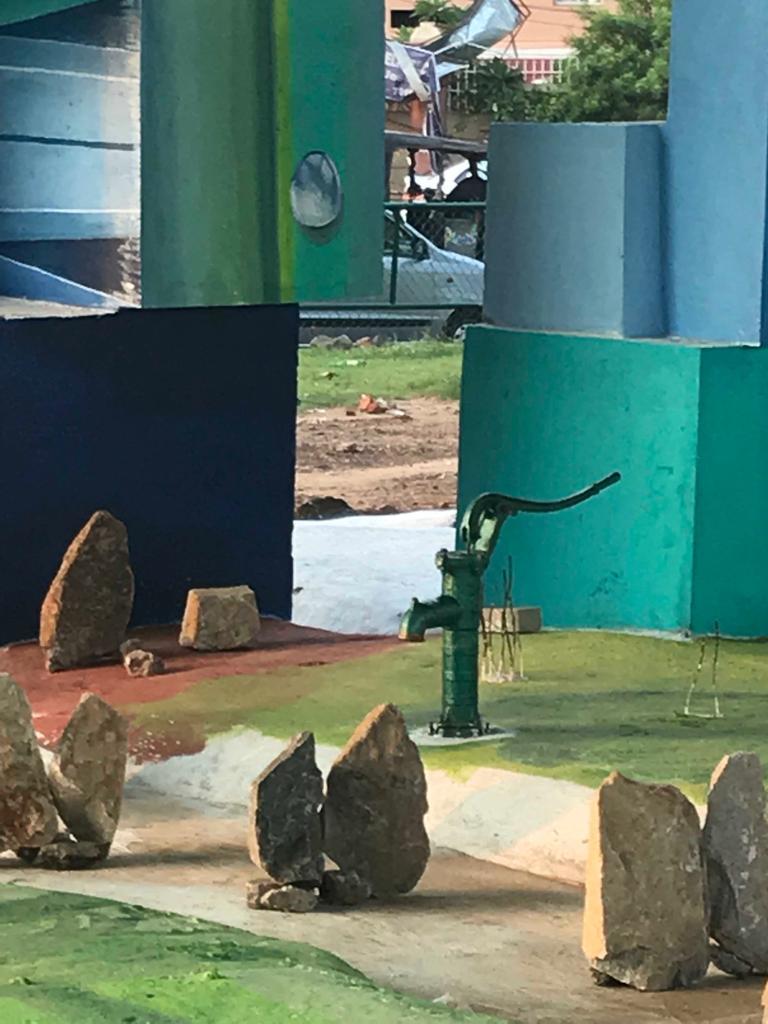 2-an instalation at Rasulgarhs quare.