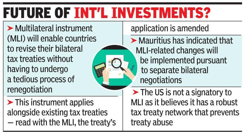 Multilateral instrument to curb tax treaty abuse